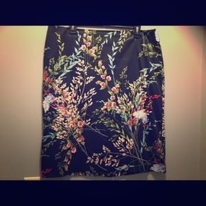 Women Floral Talbots skirt